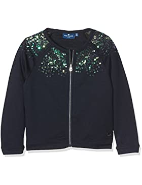 TOM TAILOR Mädchen Sweatshirt Sweatjacket with Sequins