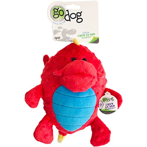 godog-dragons-grunters-plush-dog-toy-with-chew-guard-technology-large-red