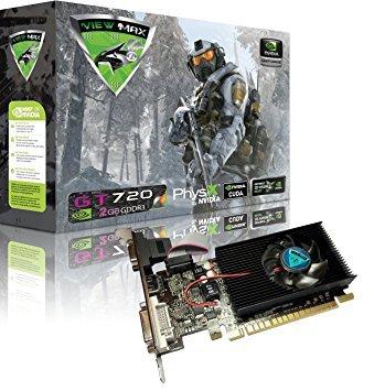 Viewmax NVIDIA GeForce GT 7202GB GDDR3PCI Express (PCIe) DVI Video Karte HDMI und HDCP Unterstützung-Produkt Code Name Air Strike F-16Fighting Falcon Edition (720 Ti)