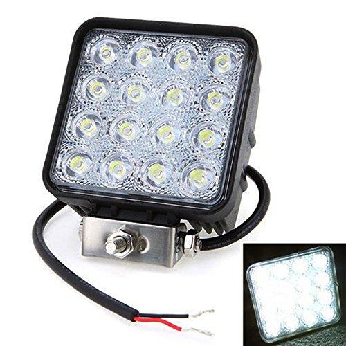 Leetop 48W Offroads LED Spot Arbeitsleuchte, quadratisch, DC12V 24V, IP67, Nebel Tag fahren Lampe f¨¹r ATV Jeep Auto und LKW