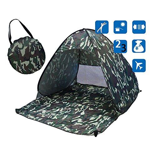 olayer olayer Sun Shades für 2–3Personen Angeln Zelt Outdoor Camping Wandern Strand Sommer Zelt UV-Schutz Schnelle Automatische Öffnung, camouflage