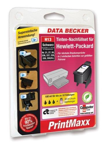 Data Becker 310961 H13 Refillkit für Hewlett-Packard-Patronen schwarz (Hp 3845 Drucker)