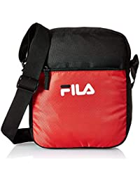 Fila Polyester 30.5 cms Red/Blk Messenger Bag (Rafael)