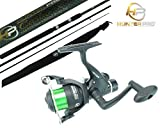 11ft Carbon Carp Float Match Fishing Rod & Hp40r Reel. Hunter Pro Quality Brand