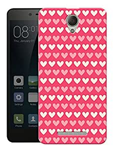 "Humor Gang Hearts On Red Printed Designer Mobile Back Cover For ""Xiaomi Redmi 3S"" (3D, Matte Finish, Premium Quality, Protective Snap On Slim Hard Phone Case, Multi Color)"