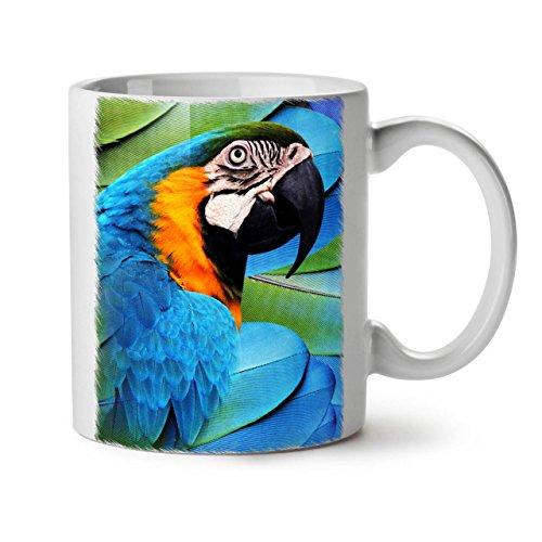 rrot Bird Paradise weiß Tee Kaffee Keramik Becher 11OZ ()
