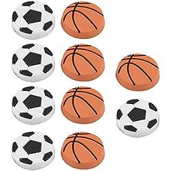 sourcingmap® Nevera pizarra blanca de plástico Baloncesto diseño conjunto del imán