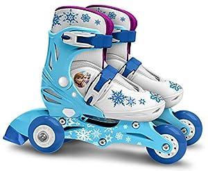 Stamp Sas-PATINS EN Ligne Two IN One 3 ROUES Reine Des Neiges Taille 27-30 Frozen Adjustable Wheels Skate Size, Color Blue, (RN240301)