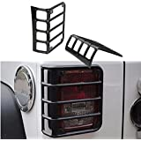 Auxmart 11226.02 Rear Euro Tail Light Guard for 07-15 Jeep Wrangler JK - Pair by Auxmart
