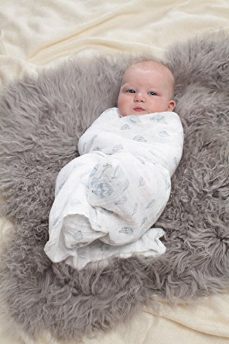 aden + anais 2043G Classic Swaddle Night Sky, 4er pack