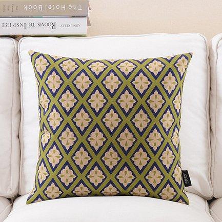 Baumwolle Leinen Sofa Couch Stuhl, Sitzkissenbezug dekorativer Überwurf-Kissenbezug 18, blumenmuster, 18 -