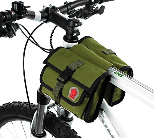 DCCN MTB Bicicletta ciclismo Forma di balena Due Borse da telaio da bicicletta custodia borsa (Borsa Telaio)