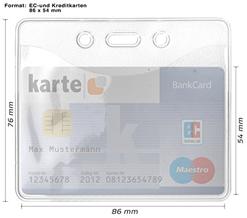 100 x Ausweishülle Ausweishalter Kartenhülle EC Kartenhalter Ausweishüllen