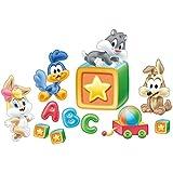 Bilderwelten Wandtattoo Baby Looney Tunes Lernen, Größe: 30cm x 45cm