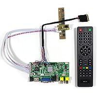 VSDISPLAY 2AV USB Audio-HDMI, VGA, Controller con display lcd, VS-V1-V59AV