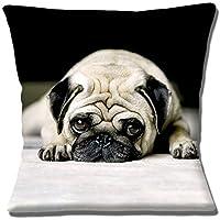 Impresión fotográfica de perro descansando perro negro blanco Fawn – 16