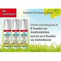 Plantacos Insekten-Schutzspray Forte - 3er Vorteilspack - Schützt zuverlässig vor Insektenstichen und Zeckenbissen preisvergleich bei billige-tabletten.eu
