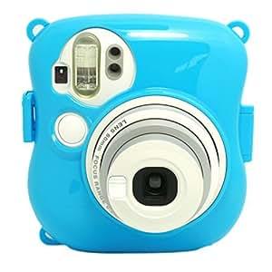 Gearmax® pour Fujifilm Instax Mini 25,(Bleu)Disque PC en plastique en plastique Camera Case Camera Case Appareil photo instantané Housse étui de protection