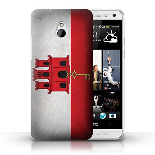 Kobalt® Imprimé Etui / Coque pour HTC One/1 Mini / Pays de Galles/gallois conception / Série Drapeau Gibraltar