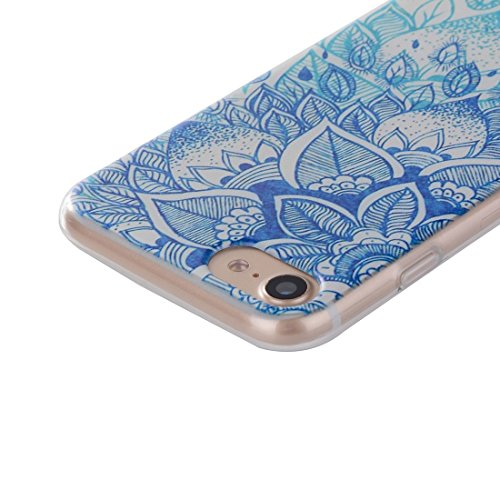 iPhone Case Cover Pour iPhone 7 Cat Peach Blossom motif Transparent TPU Soft Protective Back Cover Case ( SKU : Ip7g0061f ) Ip7g0061h