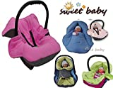 Sweet Baby - MULTI SOFT PolarFleece Einschlagdecke HERBST / WINTER ** 3 UND 5 Punkt GurtSystem ** Universal für Babyschale, Autokindersitz, z.B. für Maxi-Cosi, Römer, für Kinderwagen, Buggy oder Babybett -- ANTHRAZIT / ROSE --