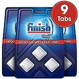 Finish Maschinenpfleger Tabs,  Spülmaschinenreiniger, Maschinenpfleger gegen Schmutz- und Fettreste, 3er Pack (3 x 3 Stück)