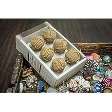 Casa Decor New Year Sale of Set of 6 Jute Ball Shape Handmade Drawer Pull Cabinet Dresser Handle Wardrobe Jute Knobs