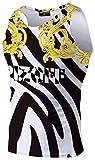 Pizoff Herren Sport Tank Top - Fitness Trainingsshirt Muskelshirt mit Barock Palace Golden Karikatur Druckmuster AL083-14-L