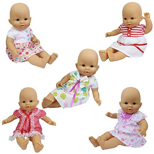 ZITA ELEMENT 5X Vestidos Lindo para Bebé Muñecas Ropa Muñecas 35-46cm / 14-18 Pulgadas American Girl Doll