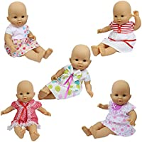 ZITA ELEMENT 5 PCS Fashion Dresses for 14 -18 inch Baby Dolls, American Girl Dolls,Newborn Dolls, and other 14 - 18 inch Dolls