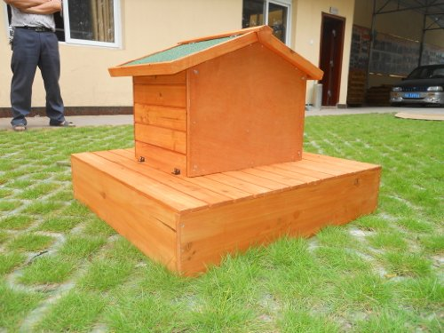 Easipet Duck House wooden floating platform 263 2