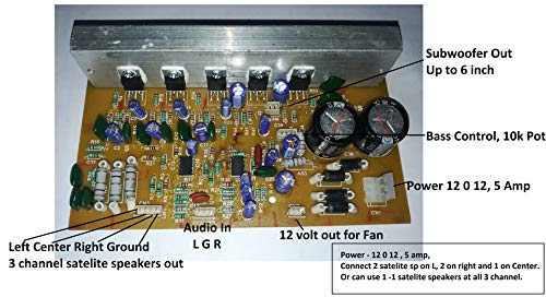 Salcon Electronics S_DIYKITS 150W Stereo 5.1/3.1 Home Theater Audio Amplifier Board Kit