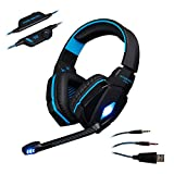 KOTION EACH G4000 Over-Ear Volume Control Microphone Headset Stereo Earphone with Glaring Led