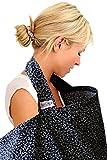 BebeChic telo in cotone per allattamento al seno con tasca portaoggetti colore nero