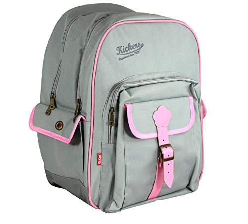 Kickers Cartable 36 L, Gris Clair/Rose Doux