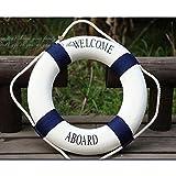 Yuhemii stile mediterraneo nuoto Circle decorazione cinghia, colore: blu 1?pcs
