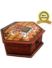 Trustful Wooden Hand Painted Dhola Maru Sanduk   Jewellery Box   Jewellery Organizer   Jewellery Holder   Jewellery...