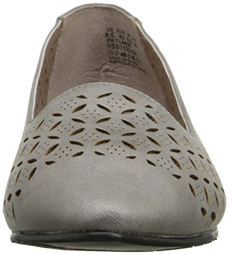 Doux Style Par Hush Puppies Dana Flat Pewter Malta Burnish Polyurethane