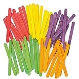 Baker Ross Bastoncini lecca-lecca colorati in legno per bambini (confezione da 200)