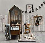 Barnwood Wandholz Whitewash, Wandverkleidung aus Holz in 3D-Optik, 0,8 m2