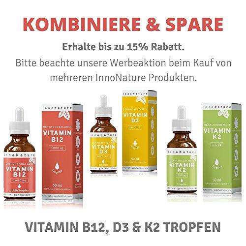 Vitamin B12 (Methylcobalamin) Tropfen (1000 µg pro Portion / 200µg pro Tropfen), 1.250 Tropfen in 50ml Flasche als 8 Monatsvorrat. Frei von Konservierungsstoffen. Vegan, hochdosiert, hergestellt in DE - 6