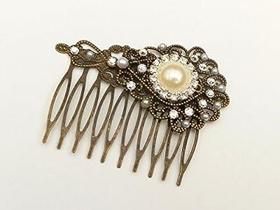 Les accessoires de cheveux de mariée de peigne de cheveux de mariage effacent des cristaux