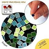 ALEA Mosaic Mosaik-Minis (5x5x3mm), 5000 Stück, mix grün