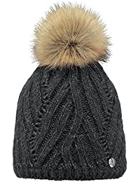 c9462c78de04e Barts Women's Serenity Beanie Fleece Lined With Faux Fur Pom
