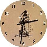 Azeeda 275mm 'Kaffeemaschine' Große MDF-Uhr (CK00006798)
