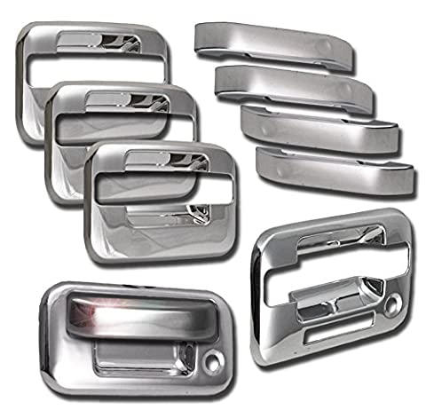 ZMAUTOPARTS Ford F150 4Dr Pickup Door Handle Tailgate Cover Trim Bezel Chrome Pcs by ZMAUTOPARTS