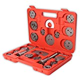 TRESKO® Universal Brake Caliper Piston Rewind Kit Wind Back Tool Set for replacement of brake pads, brake discs or brake shoes, Set of 22 pieces, for most common brands