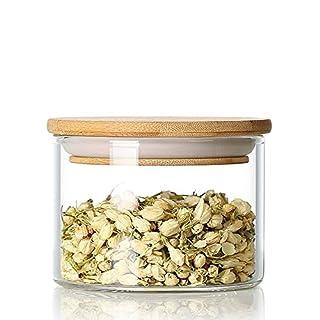 Airby (TM) Holz Deckel Borosilikatglas klar luftdicht Kanister Gläser Einmachglas Einkochglas 300ml
