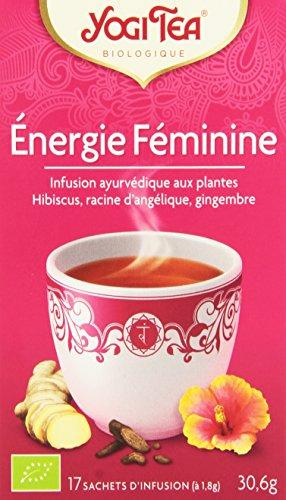 Yogi Tea Infusion Bio Energie Féminine la boîte de 17 sachets