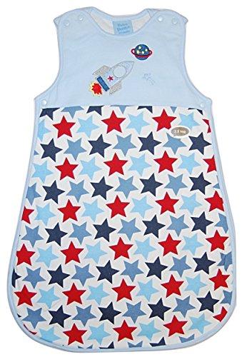 Bebe Bonito Baby Jungen Schlafsack blau Blue / Red / White / Multi 0-6 Monate (Sterne Und Mond Bettdecke)